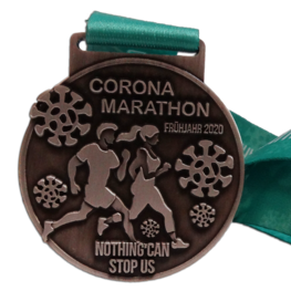 Virtual run medal Corona Marathon