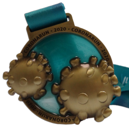 Virtual run medal Corona Run