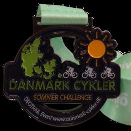 Virtual run medal Danmark Cykler