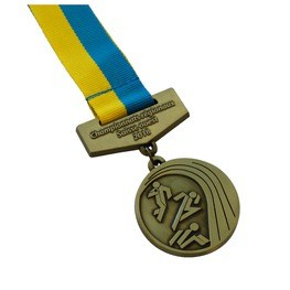 Medal with ribbon carrier