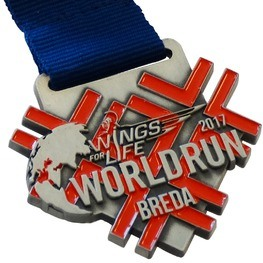 Charity medal Wings for Life World Run