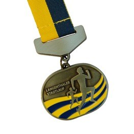 Langenthaler Stadtlauf medal with ribbon carrier