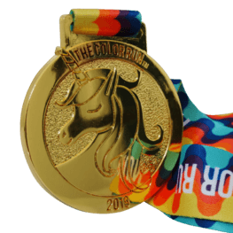 Colour run medal