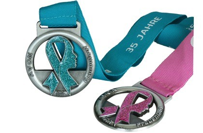 Medal with glitter effect