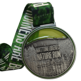 Stained glass effect Nature Run medal