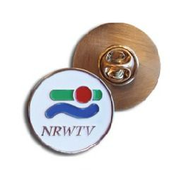 NRWTV custom pin badge