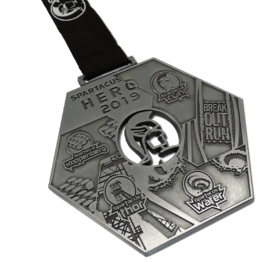 Obstacle Run Spartacus medal